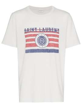 Saint Laurent University Logo T Shirt by Saint Laurent
