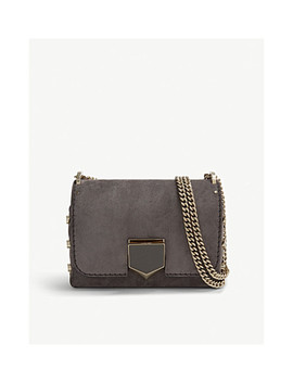 Lockett Petite Suede Shoulder Bag by Jimmy Choo