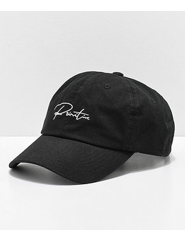 Primitive Ginza Black Strapback Hat by Primitive