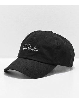 Primitive Ginza Black Strapback Hat by Primitive