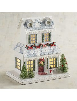 Led Light Up Farmhouse Christmas Village by Pier1 Imports