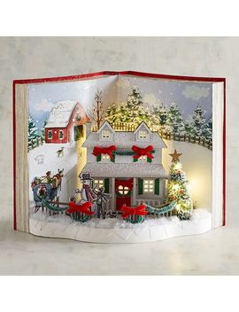 Led Light Up Christmas Homecoming Book Decor by Pier1 Imports