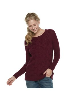 Women's Sonoma Goods For Life™ Twist Cable Knit Sweater by Kohl's