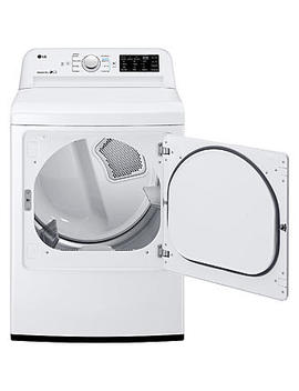 Lg Dle7100 W  7.3 Cu. Ft. Ultra Large Capacity Top Load Electric Dryer With Sensor Dry System – White Lg Dle7100 W  7.3 Cu. Ft. Ultra Large Capacity Top Load Electric Dryer With Sensor Dry System – White by Sears
