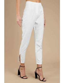 Kendall White Skinny Pants by Tobi
