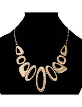 Women Fashion Jewelry Pendant Crystal Choker Chunky Statement Chain Bib Necklace by Unbranded