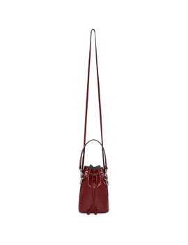 Red Mini 'forever Fendi' Mon Tresor Bag by Fendi