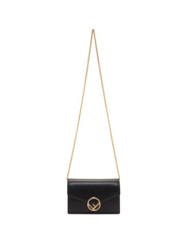 Black Wallet Chain Bag by Fendi
