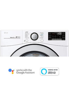 Lg Dle3500 W  7.4 Cu. Ft. Ultra Large Capacity Smart Wi Fi Enabled Electric Dryer – White Lg Dle3500 W  7.4 Cu. Ft. Ultra Large Capacity Smart Wi Fi Enabled Electric Dryer – White by Sears