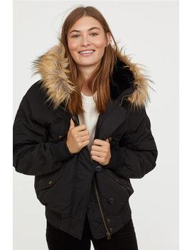 Suni Kürk Şeritli Ceket by H&M