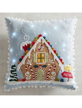 Led Light Up Gingerbread House Pillow by Pier1 Imports