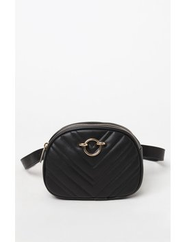 La Hearts Faux Leather Quilted Belt Bag by Pacsun