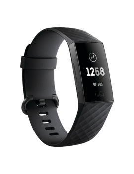 Fitbit Charge 3 Fitness Tracker   Black/Graphite Aluminum by Sport Chek