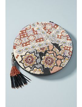 Florence Beaded Round Pouch by Anthropologie