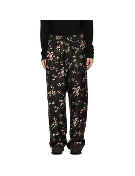 Black Freesia Pyjama Trousers by Haider Ackermann