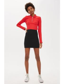 Textured Pull On Skirt by Topshop