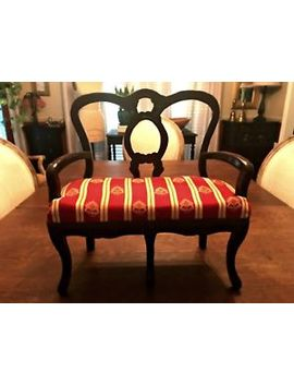 Vintage Salesman Sample Love Seat Miniature Doll Size Settee Sofa 15.5 Inches by Ebay Seller