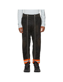 Black Worker Trousers by Calvin Klein 205 W39 Nyc