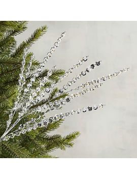 Sequined & Beaded Silver Tree Pick by Pier1 Imports