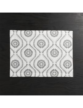 Kiran Grey Medallion Placemat by Crate&Barrel