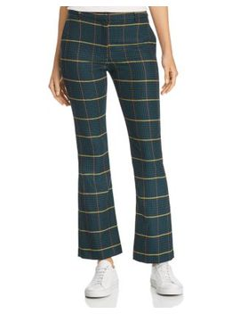 Cindy Flared Plaid Pants by Anine Bing