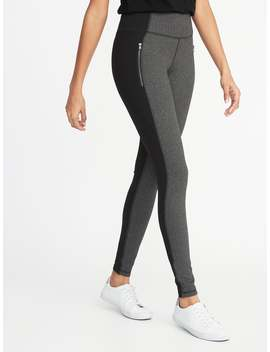 High Rise Herringbone/Ponte Zip Pocket Street Leggings For Women by Old Navy