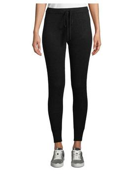 Cashmere Blend Drawstring Jogger Pants by Neiman Marcus Cashmere Collection