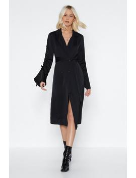 In Disguise Satin Blazer Dress by Nasty Gal