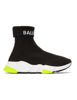 Black Logo Speed High Top Sneakers by Balenciaga