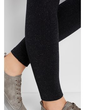 Fleece Lined Shiny Legging by Maurices