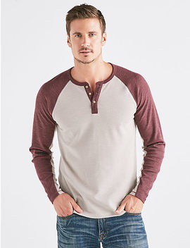 Venice Burnout Colorblock Thermal Henley by Lucky Brand