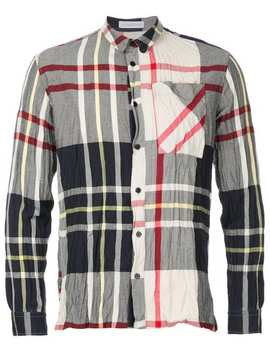 Crinkle Check Shirt by Jw Anderson