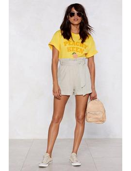 Linen There Belted Shorts by Nasty Gal