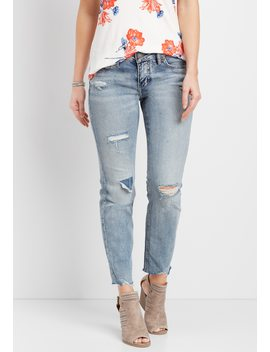 Silver Jeans Co.® Suki Destructed Medium Wash Jean by Maurices