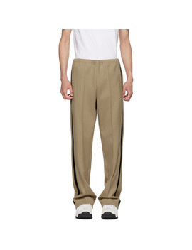 Beige Track Pants by Maison Margiela