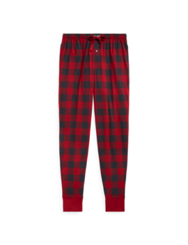 Checked Cotton Jogger by Ralph Lauren