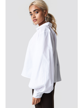 Volume Sleeve Shirt White by Na Kd