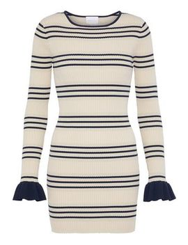 My Girl Striped Metallic Ribbed Knit Mini Dress by Alice Mc Call