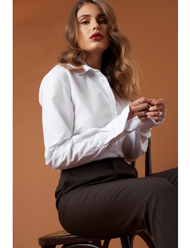 Long Sleeve Wide Cuff Shirt White by Na Kd