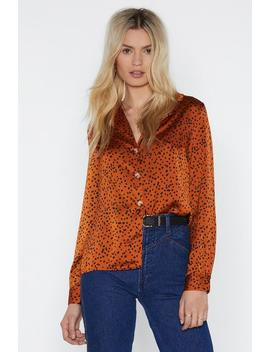 I Just Can't Spot Loving You Spotty Shirt by Nasty Gal