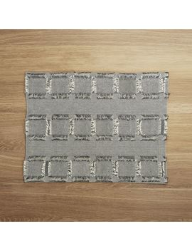 Thatcher Grey Woven Cotton Placemat by Crate&Barrel