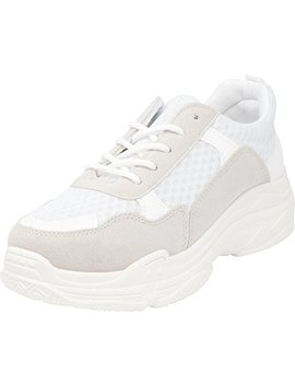 Cambridge Select Women's Retro 90s Ugly Dad Lace Up Chunky Platform Fashion Sneaker by Cambridge Select