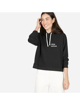 The 100 Percents Human French Terry Hoodie In Small Print by Everlane