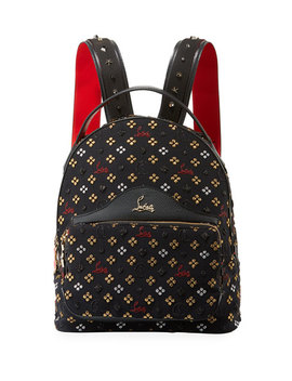 Back Loubi Small Jacquard Backpack by Christian Louboutin