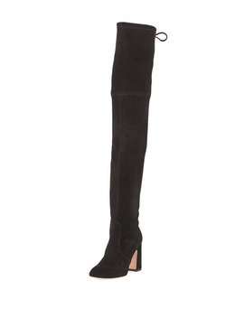 Kirstie Suede Over The Knee Boots by Stuart Weitzman