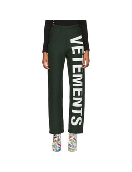 Green Logo Lounge Pants by Vetements