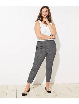 Loft Plus Skinny Button Plaid Pants by Loft