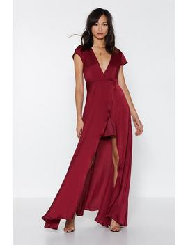 False Move Satin Dress by Nasty Gal