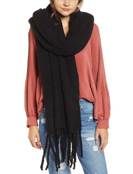 Jaden Rib Knit Blanket Scarf by Free People