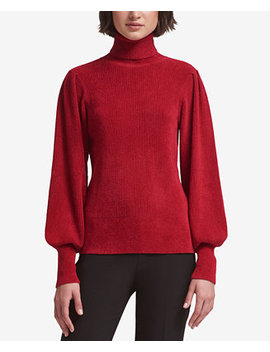 Chenille Blouson Sleeve Sweater, Created For Macy's by Dkny
